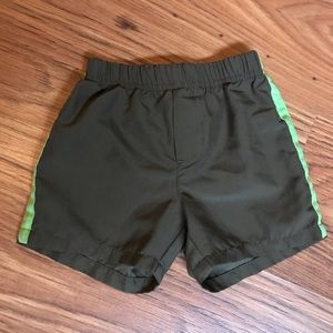 Olive Green 12M Baby Shorts